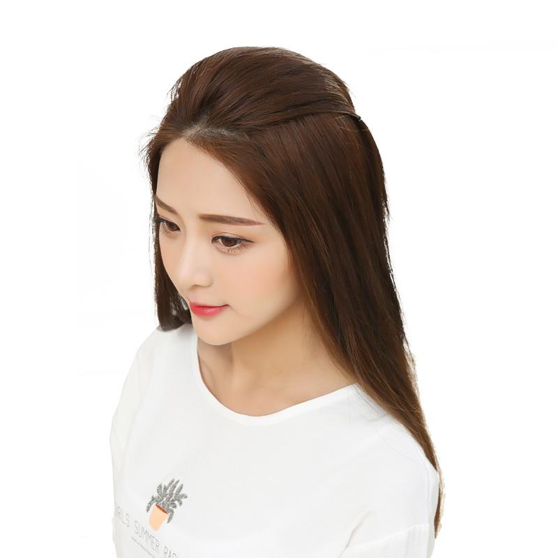 时尚魅 真发垫发假发片女垫发根蓬松器隐形无痕一片式头顶补发片