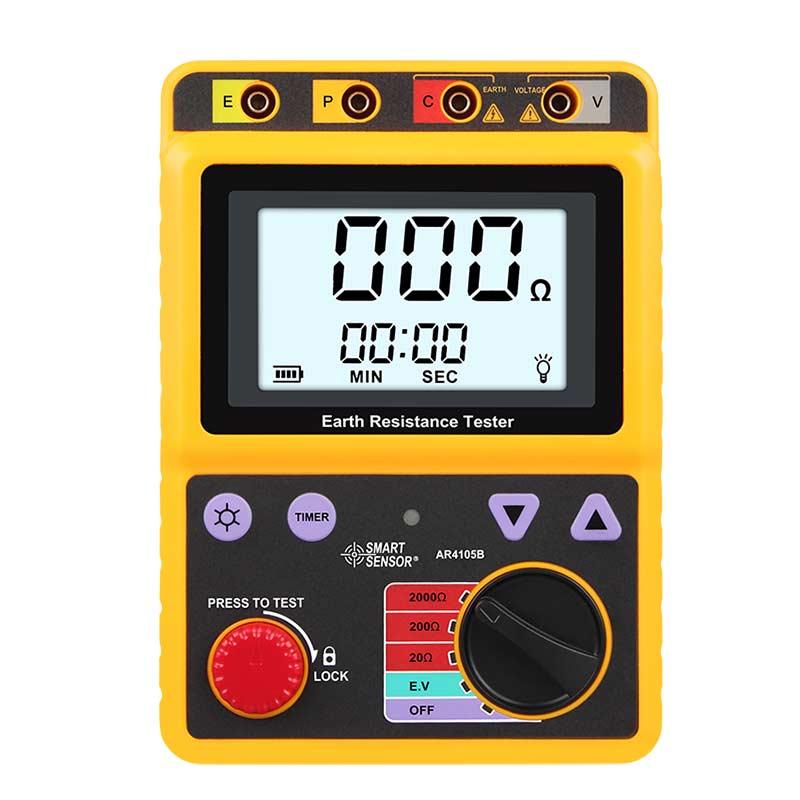 希玛AR4105A电阻测量仪接地电阻测试仪四探针电子摇表电阻计防雷