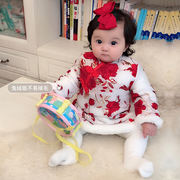 Baby cheongsam winter girl Tang suit Chinese style children's new year costume New Year's festive New Year's clothing baby age dress
