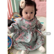 Girls Cheongsam Winter New Year Festive Baby New Year Service Years Old Dress Female Winter Baby Tang suit Chinese style