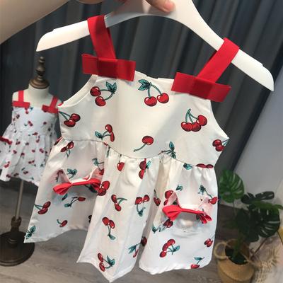 女童吊带裙婴儿连衣裙小童背心裙公主女宝宝洋气裙子夏1-3岁 可爱