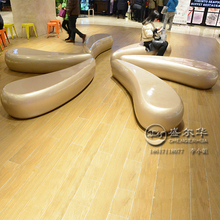 Decorative creative lounge chair shopping mall public place art chair personality special-shaped FRP leisure chair