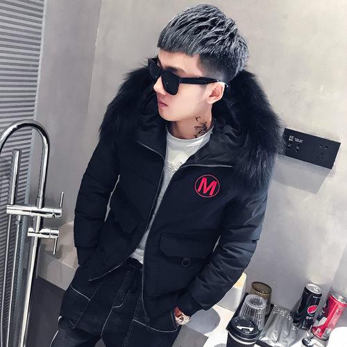 棉衣男短款带毛领韩版加厚棉袄小伙冬季外套2018新款潮流羽绒棉服