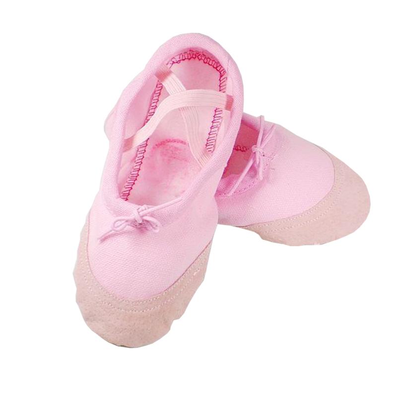 幼儿软底舞蹈鞋男女童练功鞋白色儿童跳舞鞋宝宝鞋猫爪鞋瑜伽鞋