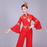 Northeastern Yangge costumes costumes female 2019 new middle-aged fan dance square dance clothes suit adult
