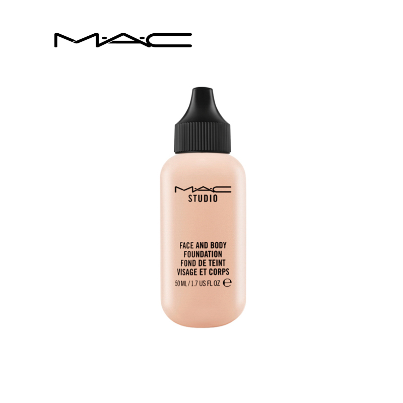 MAC/魅可小奶瓶定制双用粉底液 轻薄保湿遮瑕持久提亮