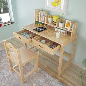实木儿童学习桌椅套装小学生升降书桌课桌椅家用男女孩写字桌台