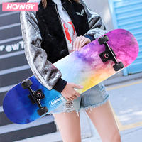Hongying four-wheeled skateboard adult girls beginners Children and adolescent boys double-ups 4 vibrating professional scooters