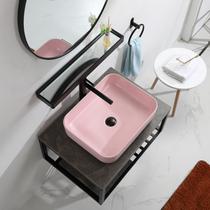 陶瓷洗脸盆方形90cm一米双龙头艺术盆1超大尺寸台上盆洗手盆