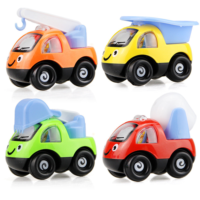 4246 pull back car cartoon mini car model children transparent plastic simulation toy small