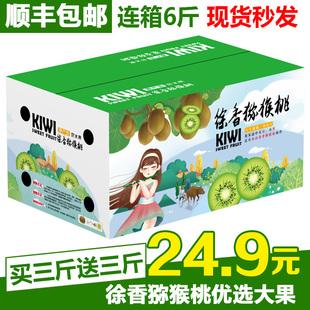 【顺丰包邮】江山徐香弥猕猴桃应季带箱6斤绿心整箱当季新鲜水果
