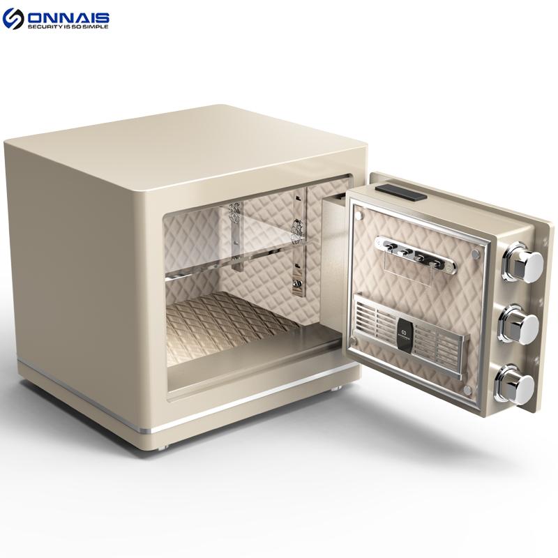 欧奈斯指纹密码3C认证35CM保险箱家用小型隐形入墙报警防盗保险柜
