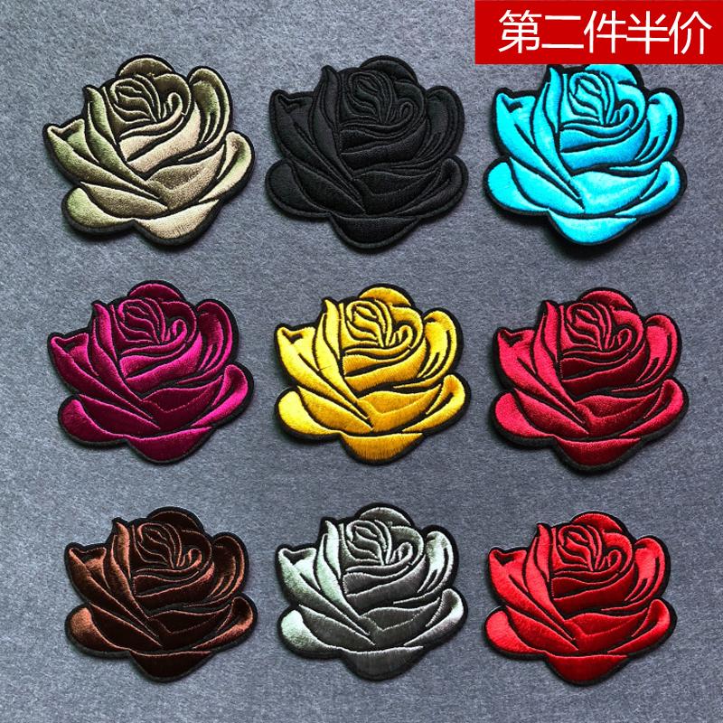 刺绣玫瑰花短袖