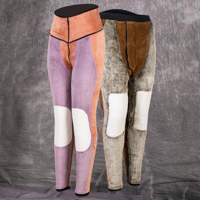 冬季保暖裤女加绒加厚男中老年修身打底女士高腰男士大码驼绒棉裤