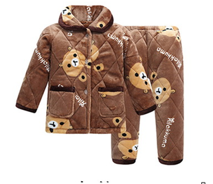 冬季儿童卡通动物连体睡衣法兰绒如厕版黄老虎绿恐龙斑马家居服