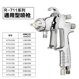 Taiwan Polaroid Prona Aerodynamic Spray Gun R711/R771 High Atomization Automotive Furniture Paint Manual Spray Gun