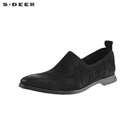 sdeer圣迪奥时尚休闲尖头浅口女士皮鞋S19183991商品大图