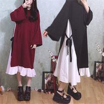 胖妹妹宽松加肥大码秋装女胖mm2018新款连衣裙200斤萝莉可爱仙女