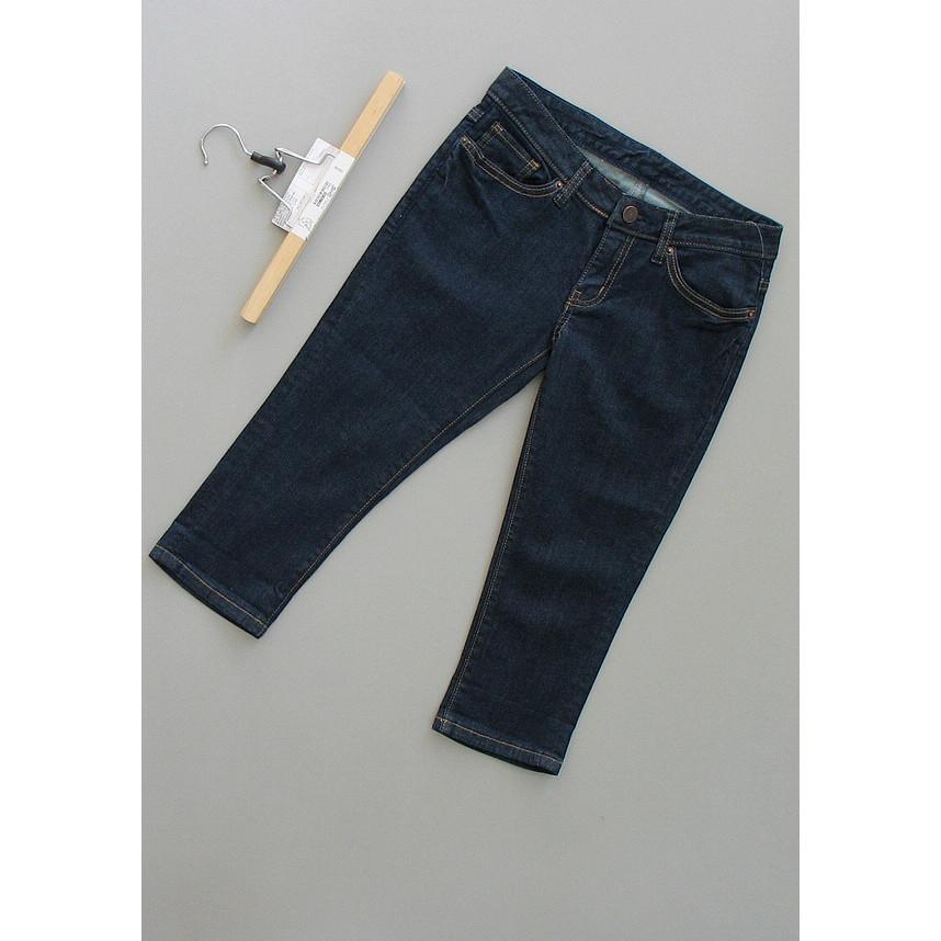 品牌深蓝色牛仔裤