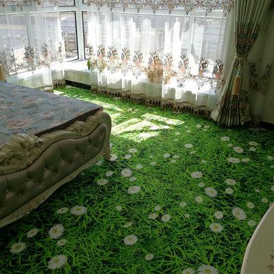 3D印花长方形地毯荷花莲花地毯门垫水洗书房红木搭配玄关销量排行