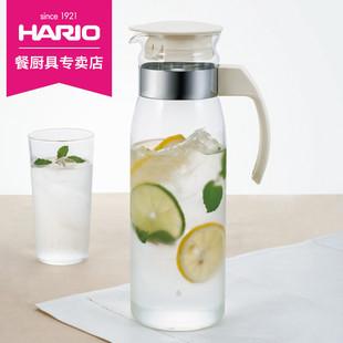 HARIO日本进口耐高温玻璃冷水壶凉水杯大容量防爆家用凉水壶RP