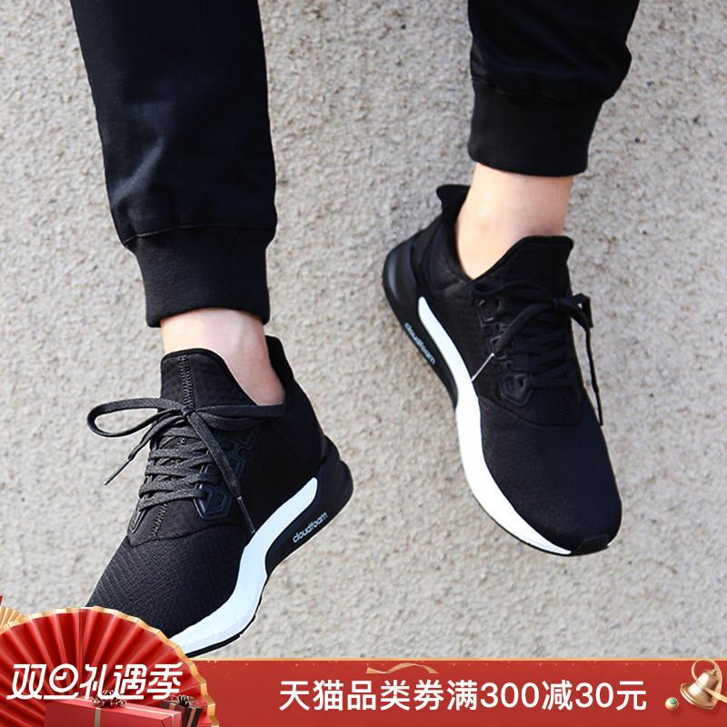 阿迪达斯官网男鞋falcon春黑武士运动鞋透气休闲跑步鞋AQ0252