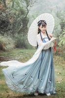 Hanfu female costume fairy skirt Qi chest skirt ancient costume Hanfu autumn clothes daily improvement ancient style fresh and elegant Tang suit