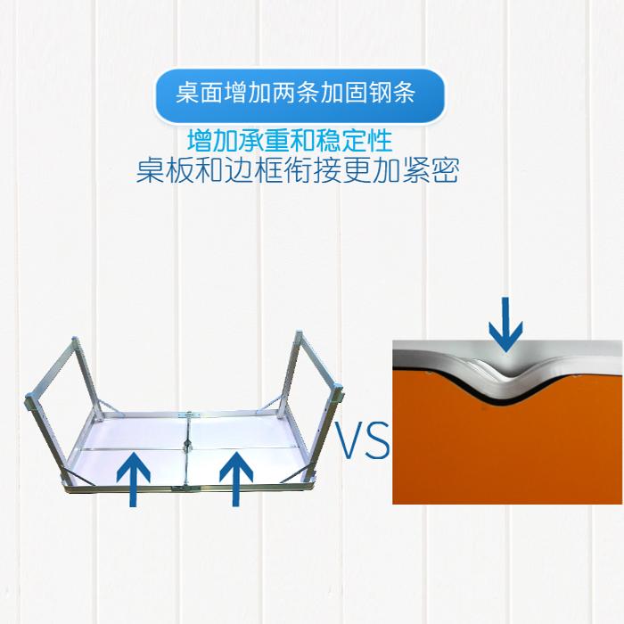 中国平安保险宣传展业桌折叠桌子户外广告促销桌便携式摆摊活动桌