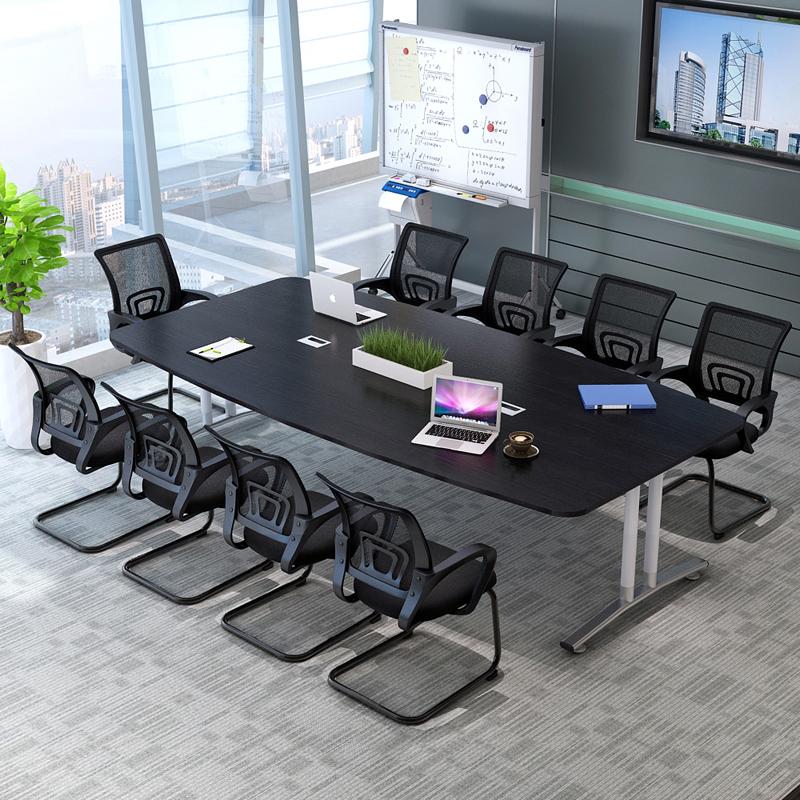 会议桌长桌椭圆形职员烤漆办公桌培训长桌简约现代会客洽谈接待桌