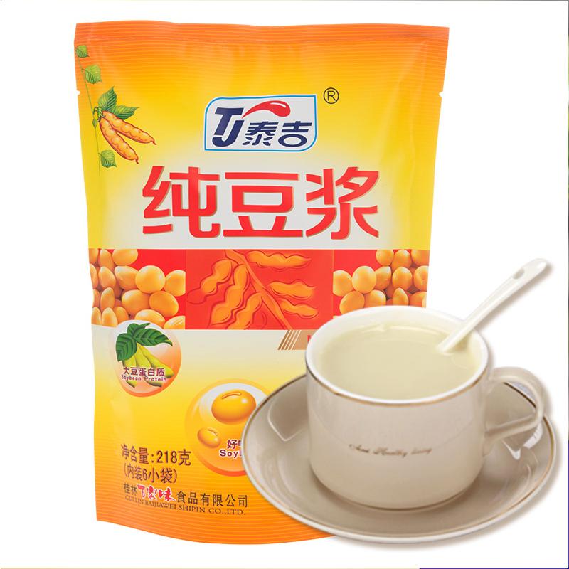 泰吉豆浆营养早餐纯豆浆粉高纤维五谷粗粮素食品速溶商用豆浆袋装