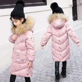 儿童羽绒服女童中长款童装女大童2018新款韩版洋气女孩中大童加厚