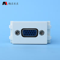 128 type ground plug and panel module VGA video solderless module 15 hole computer projector socket multimedia