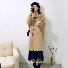 女装 中长款 过膝羊绒大衣茧型呢子大衣 毛呢外套女2019秋冬新款 韩版图片