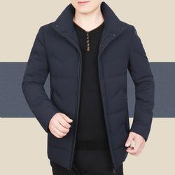 2018冬季中年男裝羽絨服男加厚冬裝外套休閑白鴨絨爸爸裝保暖上衣