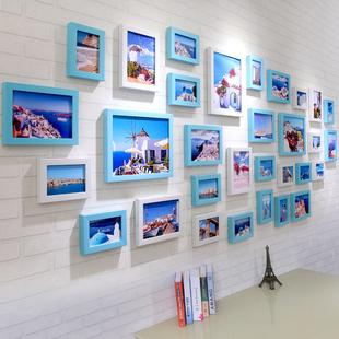 31框简约现代客厅照片墙装 饰相框墙欧式创意挂墙组合相片墙 景宇