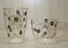 清新文艺范 法国 飞舞铁塔手工高硼硅玻璃单层咖啡杯套装洗碗机用