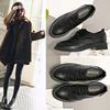 黑色加绒平底鞋