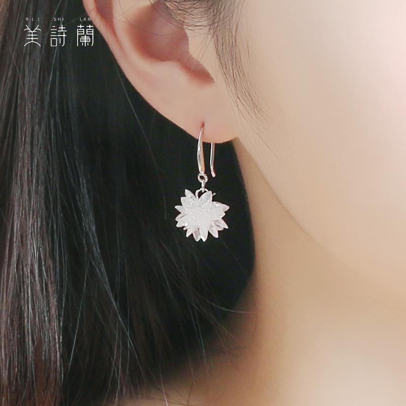 耳环纯银水晶