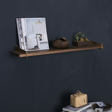 CHONG翀 Brass bracket black walnut solid wood laminate decorative shelf rack