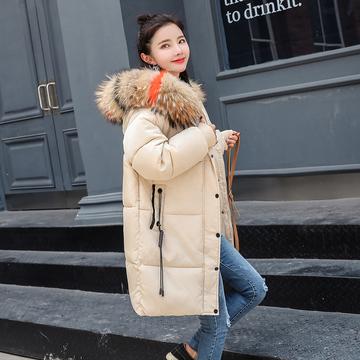 2018新款冬装棉服女中长款韩版宽松bf学生ins面包服外套加厚棉袄