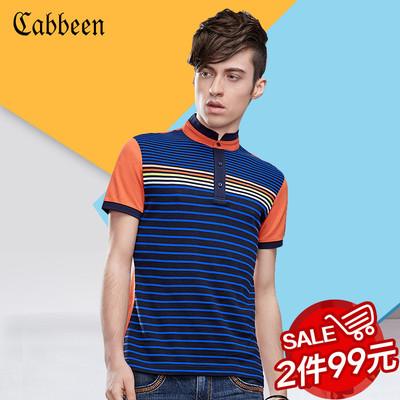 卡宾短袖polo衫男修身潮牌韩版商务运动时尚舒适纯棉透气T恤衫5