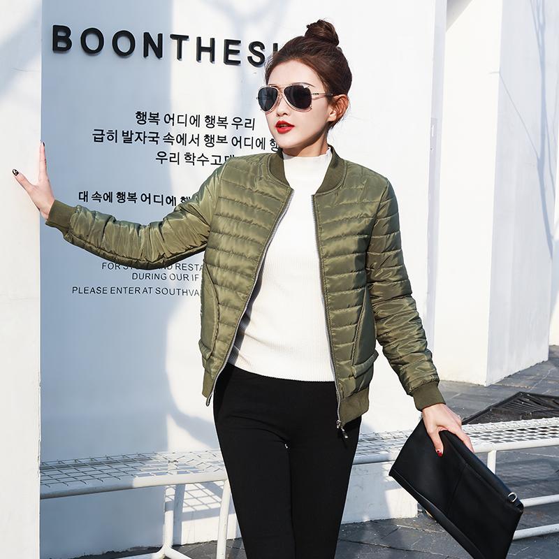 韩国棉服军绿