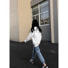 显瘦学生休闲长裤 直筒牛仔裤 时尚 基础经典 百搭款 2018秋冬新款