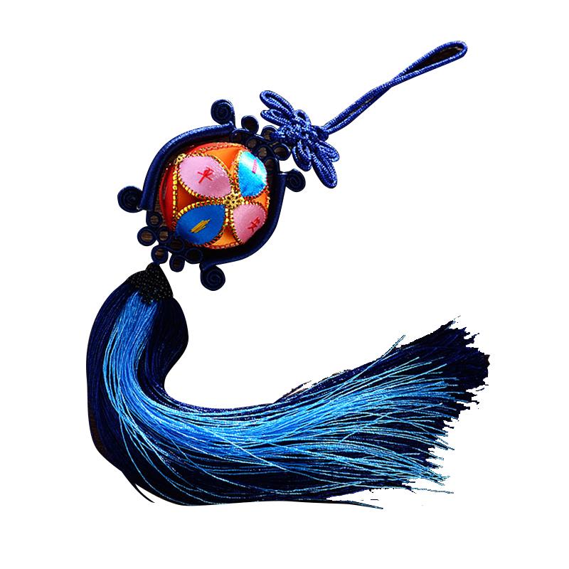 绣球广西壮族靖西旧州原创纯手工民族工艺品中国结汽车挂件礼盒装