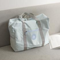 日杂附录旅行袋大容量轻便折叠拉杆登机包健身运动包34*49*18cm