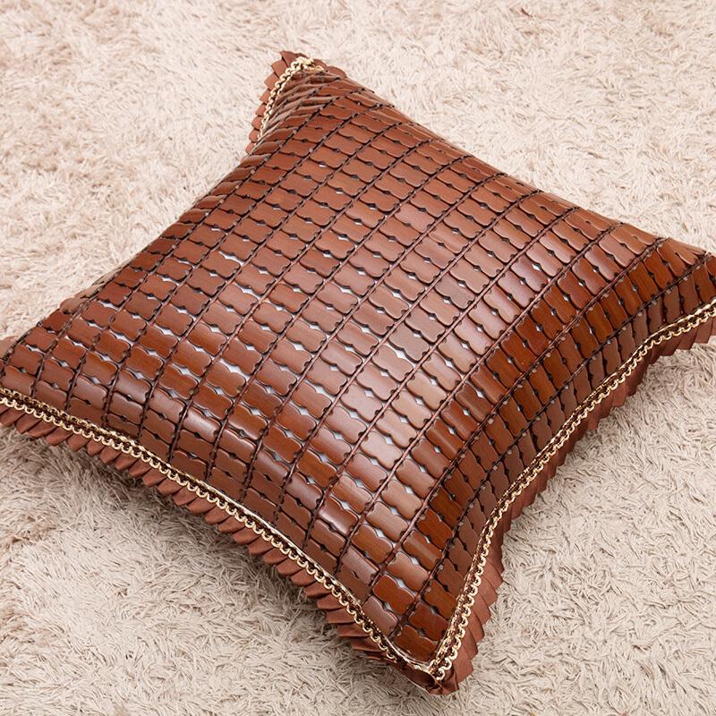 夏季麻将凉席抱枕套夏天竹抱枕夏季沙发抱枕凉靠枕汽车靠垫套定做