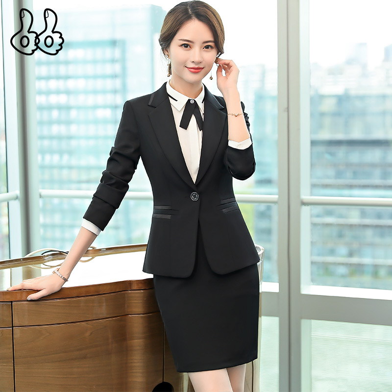 Suit Set Female Lady Small Fragrance Hall of Fame Hall of Fame OL Temperament Casual Office Uniform