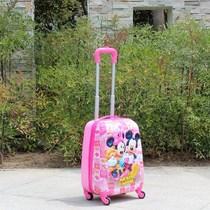 儿童拉杆箱18寸爱莎蓝色abs万向轮拉杆箱卡通行李航空箱包邮