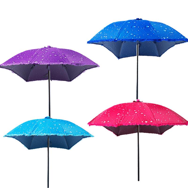 女式摩托车的大阳伞