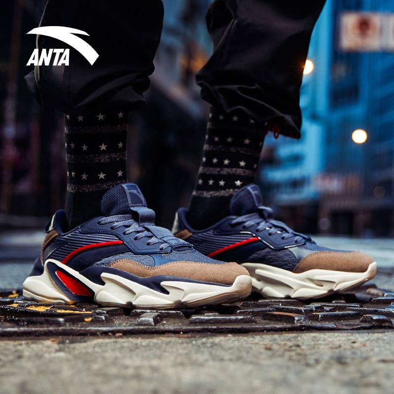 安踏老爹鞋男休闲鞋秋季2018新款男鞋正品牌国潮学生板鞋男运动鞋